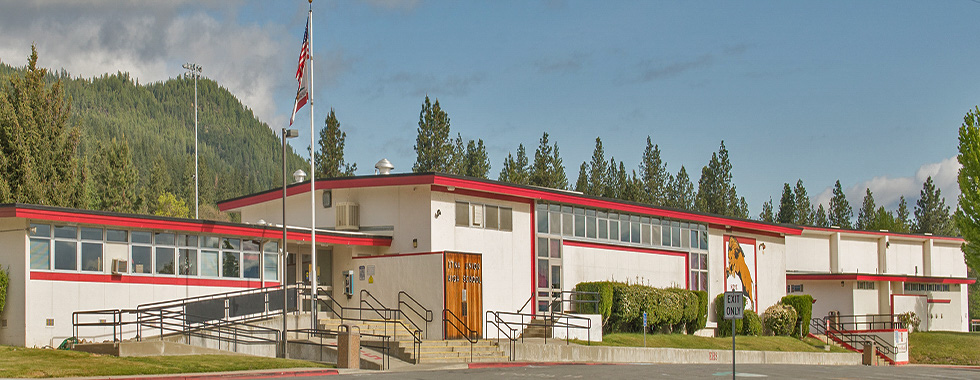 Front of Etna High School
