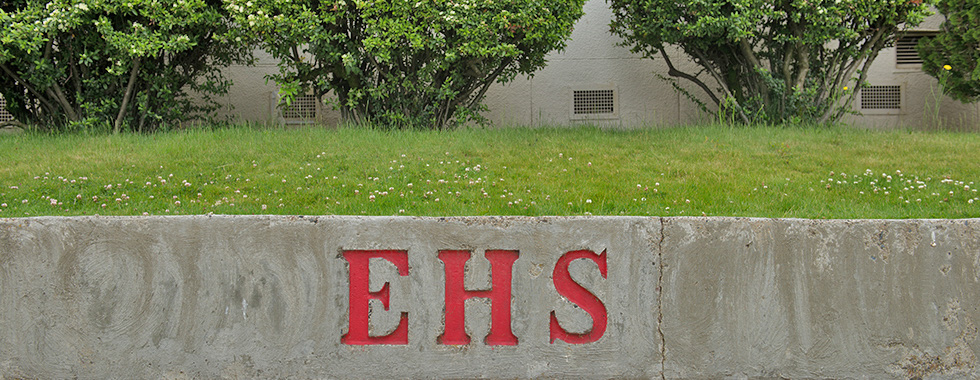 EHS engraved in concrete wall